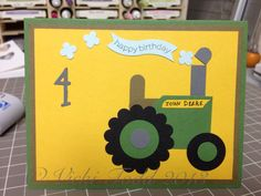 Farm, tractor, punch art