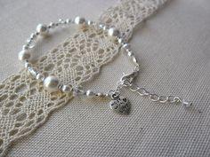 Bracelet Chic Margaux Blanc - Mariage