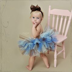 Little girl's tutu by Zilly Bean. I'm so-so on the colors, but look at all that fluff! So cute!