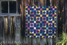 Midnight Posy Patrol Quilt Kit, $95.00 by alisonglass