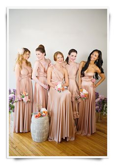 Stunning Two Birds Bridesmaids in the gorgeous 'Rosewater' colour but also available in a beautiful soft mint colour too, available of course from Weddings by Charlotte Boyd xx