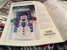 Snowman Door Hanger 1/2