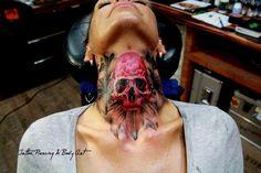 tattoo hals skull