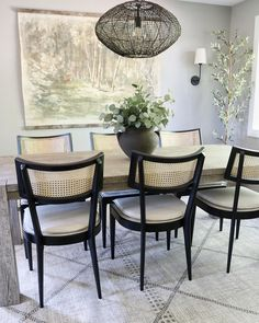 Designed by @jnathome Dining Chairs, Dining Table, Dining Room Inspiration, Home Free, Unique Colors, Furniture, Area Rugs, The Incredibles, Home Decor