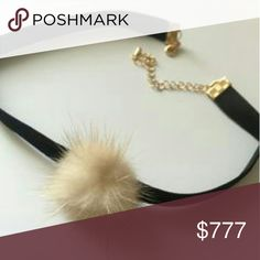 Faux fur & leather chocker Brand new, Boutique item  Sassy and edgy faux fur and faux leather choker. Pair with any outfit for a sassy look!  Dainty necklace PRICE IS FIRM, please no offers.      Jewelry Necklaces