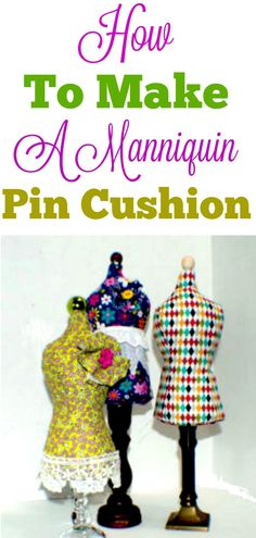 How to make a DIY mannequin pin cushion. #pincushion #mannequin #sewingtutorial #sewing