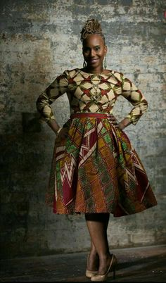 Unique Dutch African Print by LiLiCreations African Inspired Fashion, African Print Fashion, Africa Fashion, Ethnic Fashion, Fashion Prints, Love Fashion, African Attire, African Wear, African Women