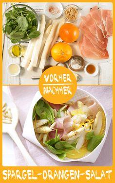 http://eatsmarter.de/rezepte/spargel-orangen-salat Dieser Salat ist ein absoluter Traum. Er schmeckt lecker, macht ordentlich was her und ist auch noch sehr kalorienarm.