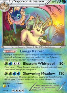 With all the Ex and Mega Evolutions appearing in Pokemon decks, I noticed my traditional Eeveelutions don't have a chance against these types of cards with only 100 HP or less. I thought it m... Pokemon Cards Legendary, All Pokemon Cards, Pokemon Trading Card, Pokemon Deck, Mega Pokemon, Cool Pokemon, Pokemon Fusion, Pokemon Ninetales, Eevee Evolutions