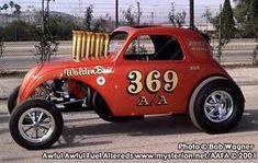Crazy vintage fuel altered .A Fiat Topolino  with a bigblock soul, circa 1970