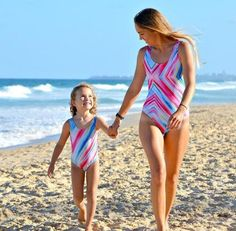 0466a680c4998 Mommy and Me Matching Printed One Piece Swimsuit (2 Color Options).  Monokini SwimsuitsBikinisMother Daughter Dresses MatchingMatching Family ...