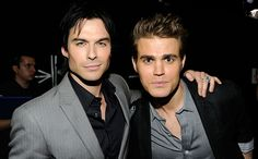 Ian Somerhalder With Paul Wesley at the 2012 People's Choice Awards in Los Angeles on January 11, 2012