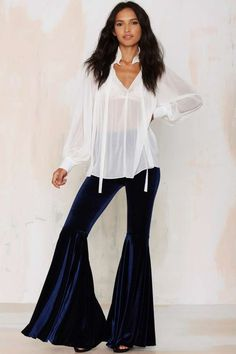 After Party Vintage Songbird Velvet Flare Leggings | Shop Clothes at Nasty Gal!