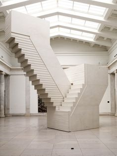 Rachel Whiteread's Untitled (Domestic), 2002, is a massive sculpture cast from the negative space of the fire escape in an eighteenth-century three-story building that is now the Haunch of Venison Gallery in London. Both familiar and disconcerting, the work evokes memory and loss, as well as things from the past which we can no longer see and which are too often forgotten.