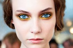 yellow eye shadow on a model. #SephoraColorWash