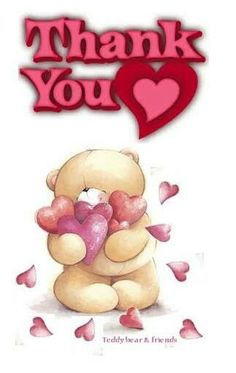 Love & hug Quotes : Thanx - Quotes Sayings Thank You Greetings, Morning Greetings Quotes, Thank You Cards, Thank You Pictures, Thank You Images, Thank You Qoutes, Teddy Bear Quotes, Teddy Beer, Thinking Of You Quotes