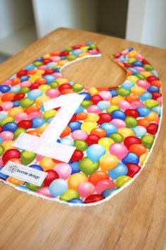 Turning One  Plastic Lined Bib by abonniedesign on Etsy, $15.00