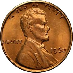 Lincoln Cents, Memorial Reverse 1960 SMALL DATE 1C MS