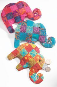 Hippy Purse~Ethnic Purse Patchwork Elephant Zip Up Coin Purse~Fair Trade by Folio Gothic Hippy P143