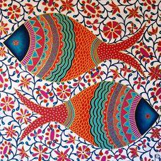 Image result for madhubani fish designs