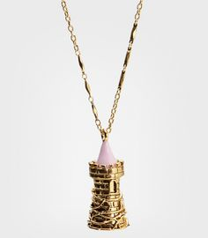 Disney Couture Perfume Vial Tower Necklace