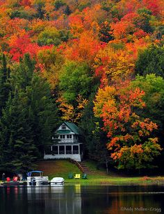 Old Forge, New York.  There is no way my husband can convince me Colorado is prettier than Upstate New York