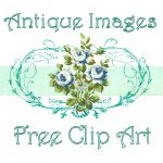 Antique Images: Free Vintage Graphic: Tiny Bird on Branch Frame with Red Flowers