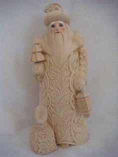 Wooden Russian Santa Russian Santa, Christmas Holidays, Elsa, Disney Characters, Fictional Characters, Sculpture, Statue, Disney Princess, Art