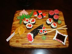 Sushi Cake - Yahoo Image Search Results Sushi Cake, Image Search, Desserts, Food, Tailgate Desserts, Deserts, Essen, Postres, Meals