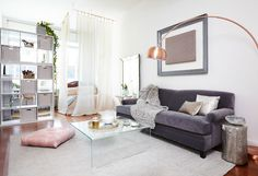 Following social media maven and beauty expert Deepica Mutyala, her life seems absolutely fabulous. But her studio apartment in Hell's Kitchen was a chaotic mess of photo equipment and boxes. Homepolish's Amy Row (who is fabulous in her own right) shows us how she made the space ab fab.