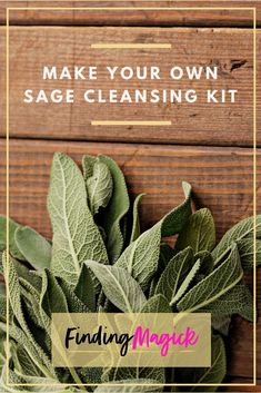 With a few simple steps and materials, you can make your own sage cleansing kit to smudge and clear negative energy around your home and sacred space. #FindingMagick #sage #smudge #smudging #magick #ritual #herb #sacredspace #herb