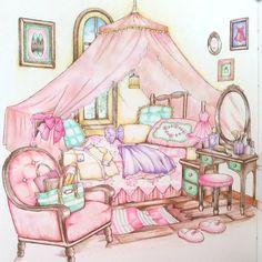#おとなのぬりえ#コロリアージュ#大人の塗り絵#著色本#憧れのお部屋#ラブリーなお部屋#adultcoloring #coloringbook #coloriage #adultcoloringbook #coloringbookforadult