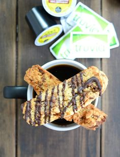 Coffee, Conversation, & Candy Bar Biscotti are the sweet moments that I share with friends! #CoffeeRoutine #Pmedia #ad @TruviaBrand