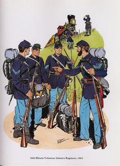 PLATES- CMH: 36th Illinois Volunteer Infantry Regiment, 1863, by H. Charles McBarron, Jr.