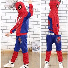 14.55$  Watch here - http://ali3sm.shopchina.info/1/go.php?t=32506239166 - New 2015 Spring Autumn Children Boys Clothing Sets Kids Cartoon Printed Coat Spiderman Hoodie Casual Clothes Suit Free Delivery  #magazine