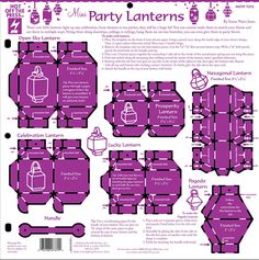 Mini Party Lanterns Template by Hot Off The Press Inc (4007372)