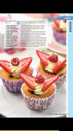 Berry butterfly cakes