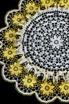 lots of crocheted doilies