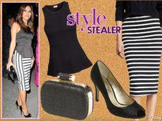 Style Stealer: Eva Longoria Struts In Stripes
