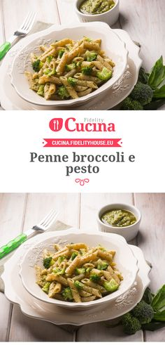 Penne broccoli e pesto