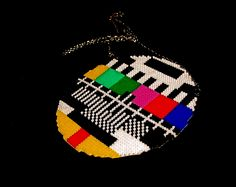 TV test card in Hama Beads