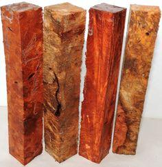 4 Amboyna Burl Blanks For Penturing Projects Amboyna Burl Hardwood Woodworking #globalwoodshardwoodforsale #amboynaburlPenblanksSquaresAmboynaburl