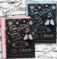 A personal favorite from my Etsy shop https://www.etsy.com/listing/171688697/winter-baby-shower-invitation-baby-its