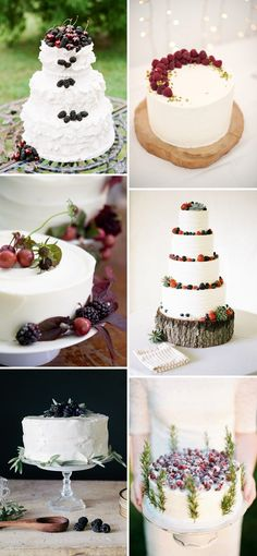Simple Wedding Cake Decorating Ideas with Florals, Berries & Greens