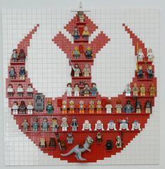 LEGO STAR WARS Rebel Minifigure Display