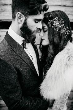 ethereal and dark winter wedding   Image by Yeray Cruz