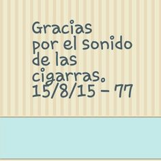 Gracias por el sonido de las cigarras. 15/8/15 - 77