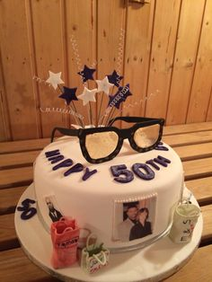 50th birthday cake for a man who loves his glasses