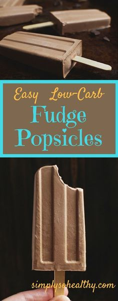 These Easy Low-Carb Fudge Popsicles are rich creamy and chocolatey. These delicious treats can be part of a low-carb ketogenic Atkins LC/HF gluten-free and Banting diets. Low Carb Sweets, Low Carb Desserts, Low Carb Recipes, Low Carb Summer Recipes, Free Recipes, Primal Recipes, Yogurt Recipes, Lamb Recipes, Simple Recipes