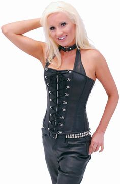 c0887b2888 Lace Up Naked Leather Full Bust Corset w Boning  LH1188LLK  JaminLeather   Deals